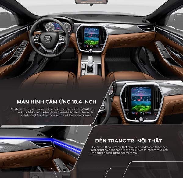 Nội thất sang trọng VinFast Lux A2.0 Tiêu Chuẩn