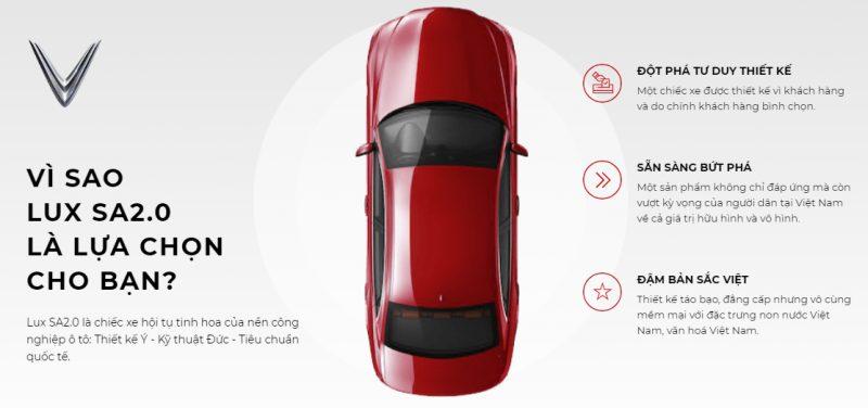 Lux SA2.0 là chiếc xe tiềm năng dành riêng cho những khách hàng tinh tế